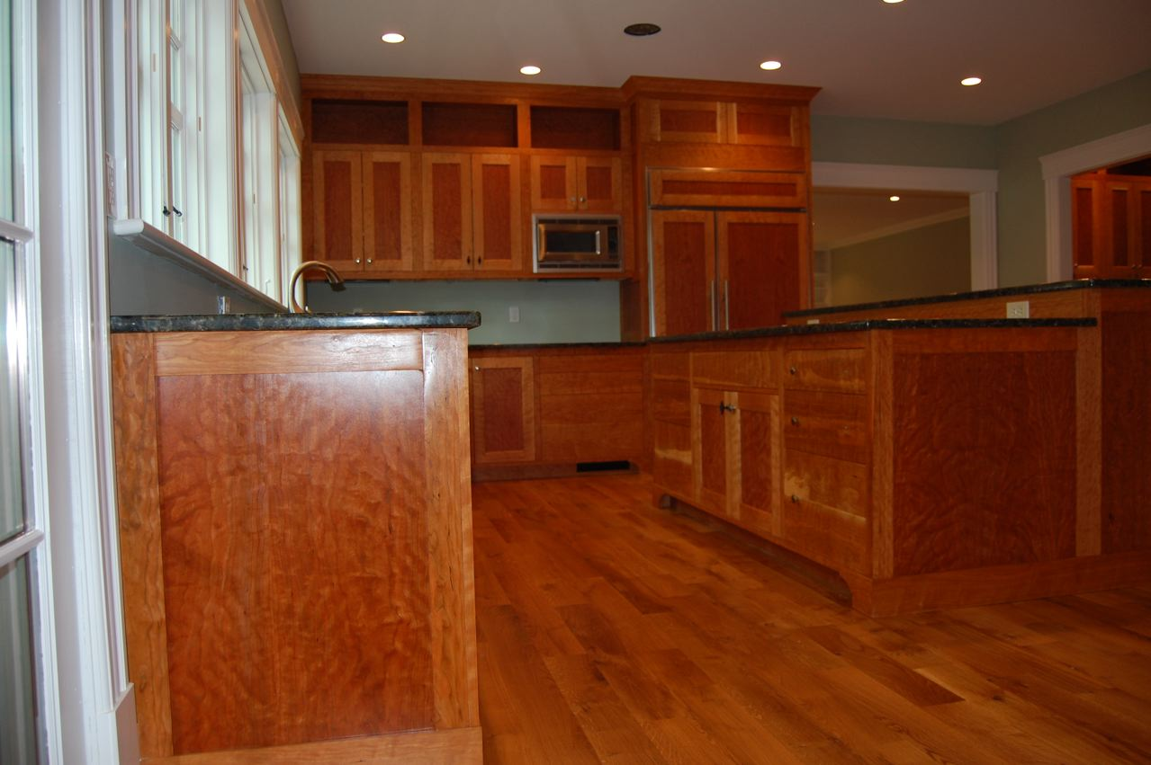 What Wood Floors Match Cherry Cabines One Of The Best Home Design